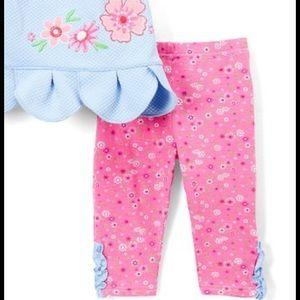 Nannette Matching Sets - Nannette Scallop-Hem Sleeveless Top/Pink Leggings